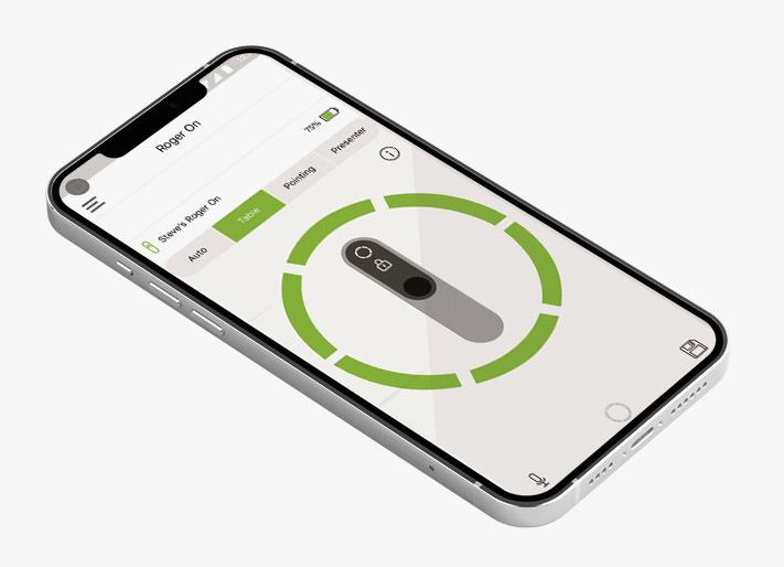 Roger On, App i mobilen
